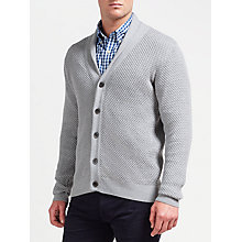 Buy GANT Honeycomb Shawl Cardigan, Grey Melange Online at johnlewis.com