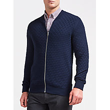 Buy Gant Texture Knit Jacket, Navy Online at johnlewis.com