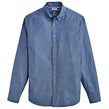 Buy Joules Invitation Long Sleeve Shirt, Indigo Spot Online at johnlewis.com