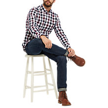 Buy Joules Hewitt Shirt, Plum Gingham Online at johnlewis.com