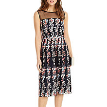 Buy Phase Eight Gabriella Embroidered Dress, Navy Online at johnlewis.com