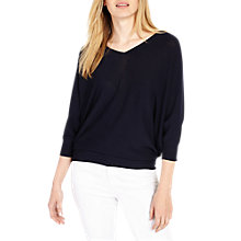 Buy Phase Eight Kachina V-Neck Jumper, Navy Online at johnlewis.com