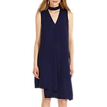 Buy Phase Eight Taylor Pleat Front Dress, Navy Online at johnlewis.com