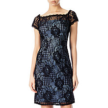 Buy Adrianna Papell Lace Cocktail Dress, Black/Navy Online at johnlewis.com