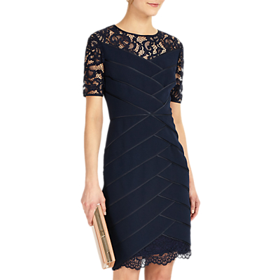 Phase Eight Collection 8 Zennor Lace Dress, Navy