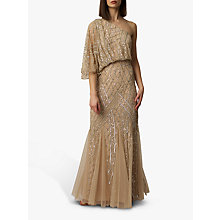 Buy Raishma One Shoulder Gown, Champagne Online at johnlewis.com