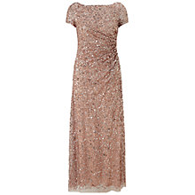 Buy Adrianna Papell Petite Draped Sequin Dress, Rose Gold Online at johnlewis.com