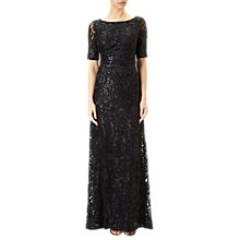 Buy Adrianna Papell Stretch Sequin Mermaid Gown, Black Online at johnlewis.com