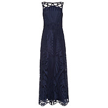 Buy Phase Eight Collection 8 Geri Embroidered Dress, Navy Online at johnlewis.com