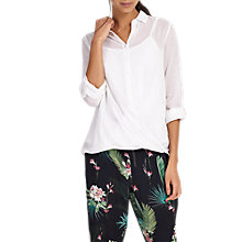 Buy Phase Eight Poppy Cross Over Blouse, White Online at johnlewis.com