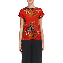 Buy Whistles Cactus Print Top, Coral/Multi Online at johnlewis.com