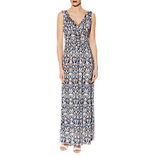 Buy Gina Bacconi Abstract Print Jersey Maxi Dress, Blue/Multi Online at johnlewis.com