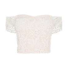 Buy Coast Melva Lace Top, Ivory Online at johnlewis.com