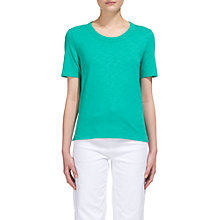 Buy Whistles Rosa Trim T-Shirt, Turquoise Online at johnlewis.com