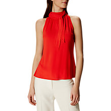 Buy Karen Millen Halter Neck Bow Top, Red Online at johnlewis.com