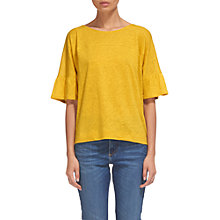 Buy Whistles Frill Cuff Linen T-shirt Online at johnlewis.com