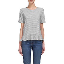 Buy Whistles Stripe Peplum T-Shirt, Multi Online at johnlewis.com