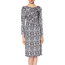 Buy Gina Bacconi Abstract Print Jersey Dress, Blue/Multi Online at johnlewis.com