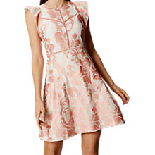 Buy Karen Millen Pretty Devore Dress, White/Multi Online at johnlewis.com