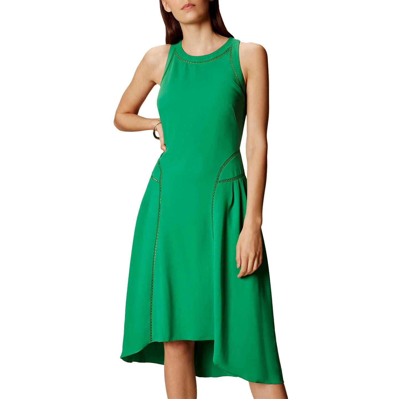 Karen Millen Asymmetric Midi Dress, Apple Green at John Lewis