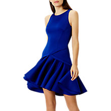 Buy Coast Crysta Peplum Hem Dress, Cobalt Blue Online at johnlewis.com