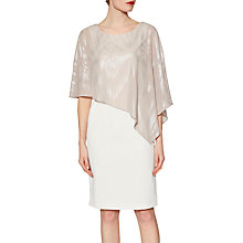Buy Gina Bacconi Moss Crepe Dress And Twinkle Chiffon Cape, Bridal Biscotti Online at johnlewis.com