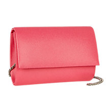 Buy Coast Anika Textured Chain Strap Bag, Pink Papaya Online at johnlewis.com