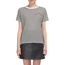 Buy Whistles Merci Beaucoup Embroidered T-shirt, Multi Online at johnlewis.com