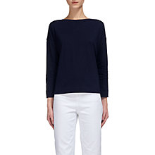 Buy Whistles Boat Neck Long Sleeve T-Shirt, Navy Online at johnlewis.com
