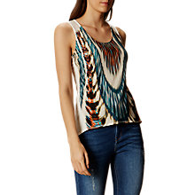 Buy Karen Millen Soft Print Vest, Multi Online at johnlewis.com