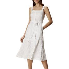 Buy Karen Millen Broderie Midi Dress, White Online at johnlewis.com
