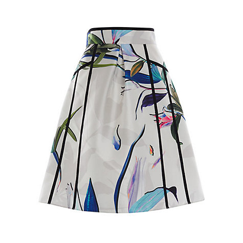 Buy Coast Botanical A Line Skirt, Multi | John Lewis