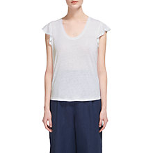 Buy Whistles Frill Sleeveless Linen Top Online at johnlewis.com