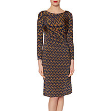 Buy Gina Bacconi Jersey Print Dress, Spring Navy/Orange Online at johnlewis.com