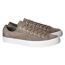Buy Converse Chuck Taylor OX Suede Trainers, Brown Online at johnlewis.com