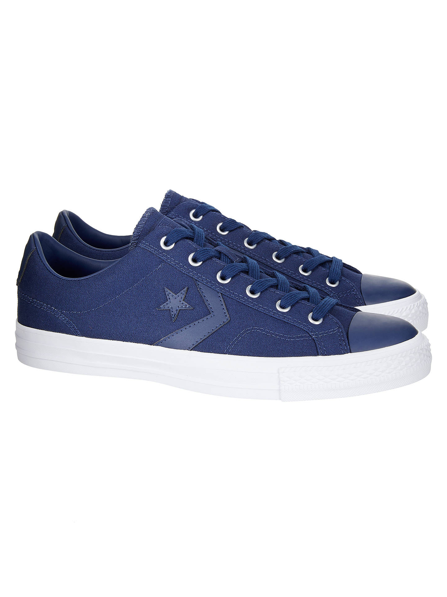 ... coupon code for buyconverse star player ox plain canvas trainers blue 7  online at johnlewis ab3e3 c35027e78