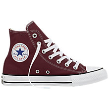 Buy Converse Chuck Taylor Hi-Top Trainers, Dark Sangria Online at johnlewis.com