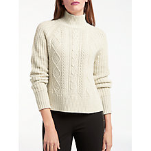 Buy Somerset by Alice Temperley Chunky Cable Jumper, Natural Online at johnlewis.com