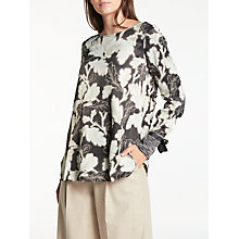Buy Modern Rarity Tie Cuff Archive Print Blouse, Black/Multi Online at johnlewis.com