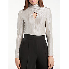 Buy Somerset by Alice Temperley Wrap Neck Blouse, Silver Online at johnlewis.com