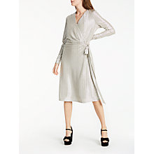 Buy Somerset by Alice Temperley Foil Wrap Over Dress, Silver Online at johnlewis.com