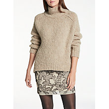 Buy Modern Rarity Chunky Polo Neck Jumper, Biscuit Online at johnlewis.com