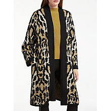 Buy Somerset by Alice Temperley Leopard Print Cardigan, Natural Online at johnlewis.com