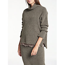 Buy Modern Rarity Roll Neck Cropped Front Jumper, Mink Online at johnlewis.com