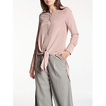 Buy Modern Rarity Silk Tie Front Tunic Blouse, Silver Pink Online at johnlewis.com