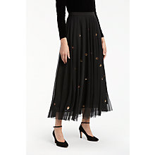 Buy Bruce by Bruce Oldfield Embellished Skirt, Black Online at johnlewis.com