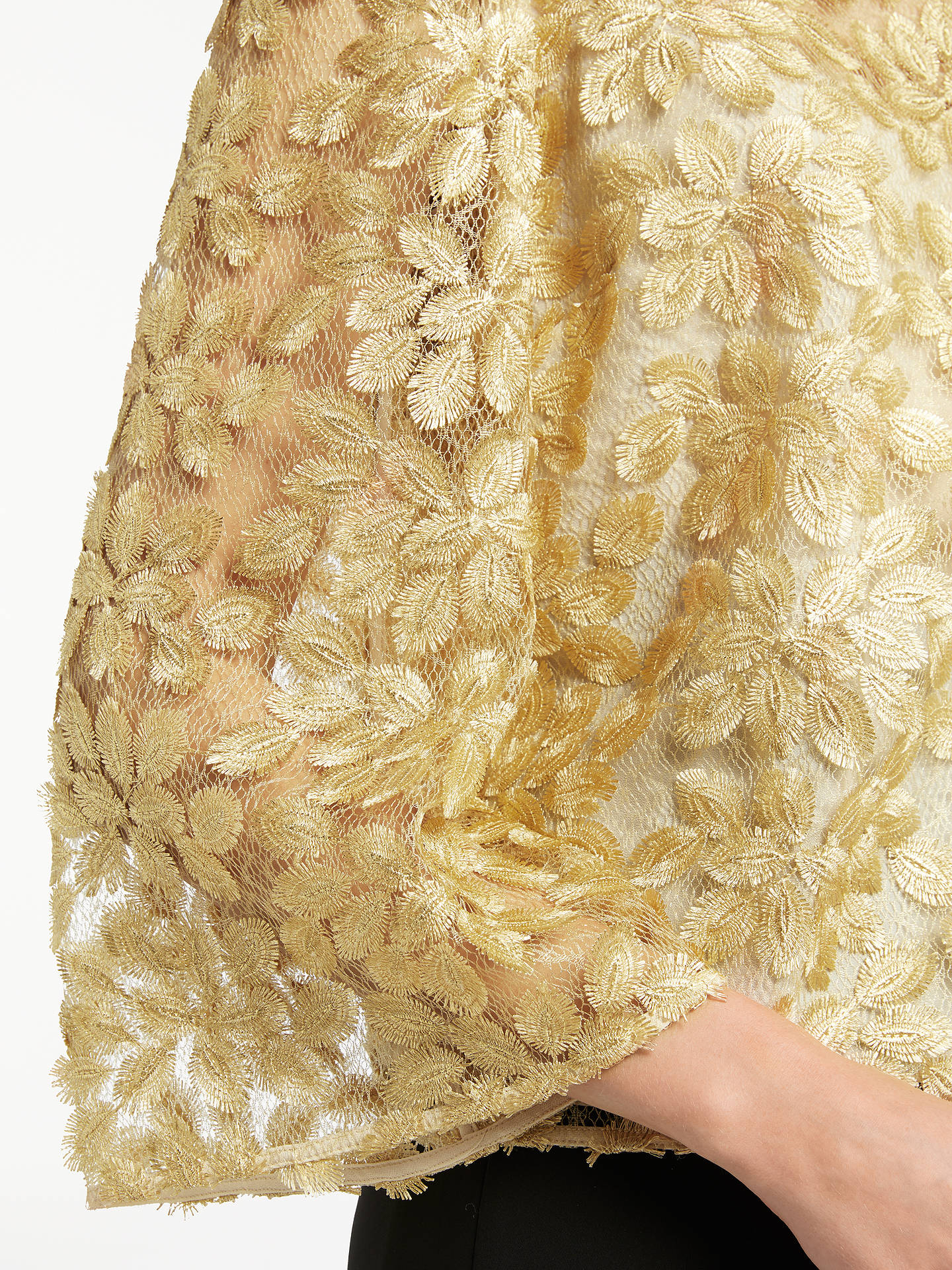 BuySomerset by Alice Temperley Lace Top, Gold, 6 Online at johnlewis.com
