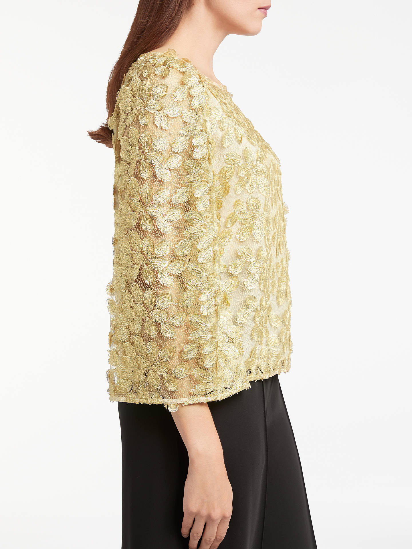 Buy Somerset by Alice Temperley Lace Top, Gold, 6 Online at johnlewis.com
