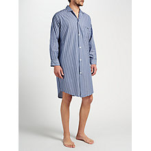 Buy Derek Rose Cotton Stripe Nightshirt, Blue/Navy Online at johnlewis.com