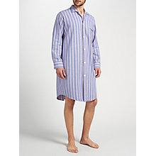 Buy Derek Rose Brushed Cotton Stripe Nightshirt, Purple/Blue/Red Online at johnlewis.com
